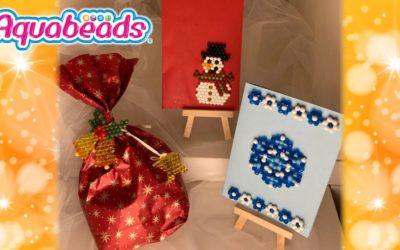 Basteltipp zu Weihnachten: Tolle Karten und Geschenkanhänger mit Aquabeads basteln